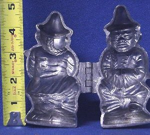pewter ice cream mold chinaman