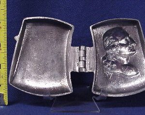 Gearge washington ice cream mold pewter