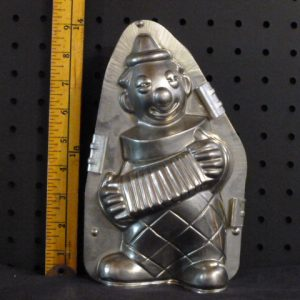 Clown with Accordion Vintage metal mold