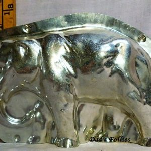 old antique metal vintage chocolate mold for sale unique gift elephant