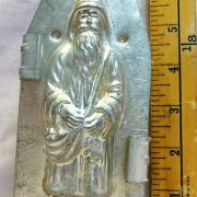 old antique metal vintage chocolate mold for sale unique gift Santa