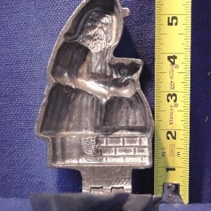 Santa pewter ice cream mold