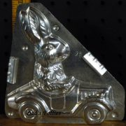 buny driving car chocolate mold