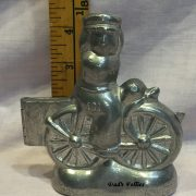 ice cream mold lady on bicycle
