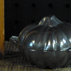 pumpkin ice cream mold pewter