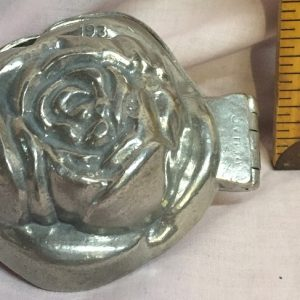 pewter ice cream mold rose