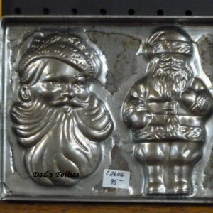 Jolly santa flat mold