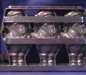 3 folding santa mold
