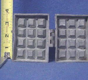 waffle ice cream mold pewter