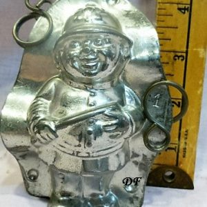 old antique vintage chocolate mold policeman unique gift