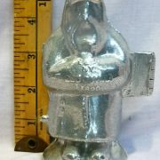 old antique vintage pewter ice cream mold for sale holiday Santa
