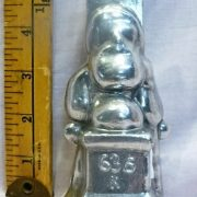 old antique vintage pewter ice cream mold for sale santa
