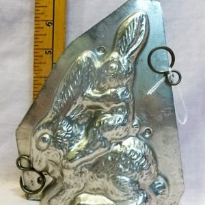 old metal vintage antique chocolate mold for sale unique gift rabbit bunny