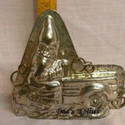 a santa tractor back
