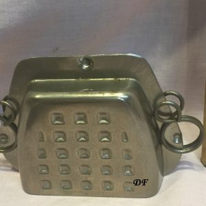 old metal vintage antique chocolate mold for sale television unusual gift