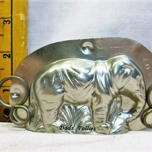 old metal vintage antique chocolate mold for sale elephant