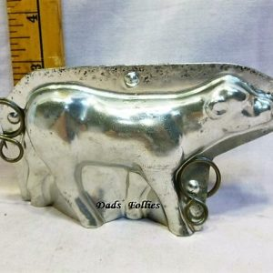 antique old metal vintage antique chocolate mold for sale calf