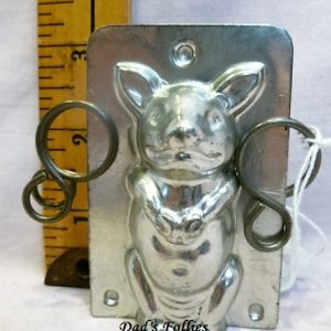 antique old metal vintage antique chocolate mold for sale animal