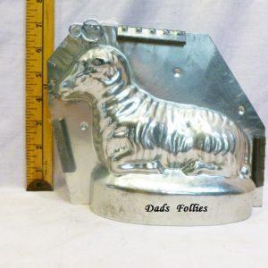 antique old metal vintage antique chocolate mold for sale lamb