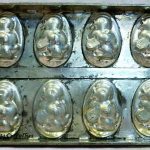 old antique metal vintage chocolate mold for sale unique gift Flat tray