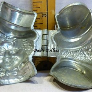 old antique vintage pewter ice cream mold for sale