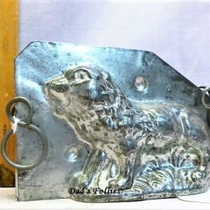 old antique metal vintage chocolate mold for sale lion