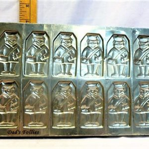 old antique metal vintage chocolate mold for sale flat, tray