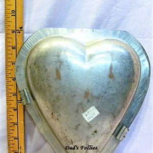 old antique metal vintage chocolate mold for sale heart