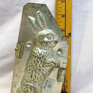 old antique metal vintage chocolate mold for sale rabbit