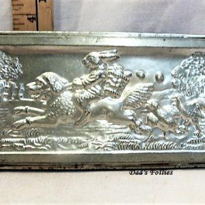 old antique metal vintage chocolate mold for sale rabbit
