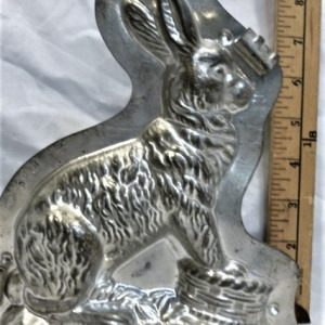 old metal vintage antique chocolate mold for sale unique rabbit