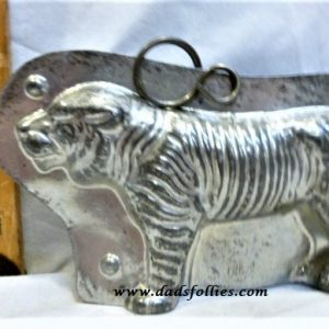 old metal vintage antique chocolate mold for sale tiger