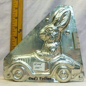 old antique metal vintage chocolate mold for sale unique gift rabbit