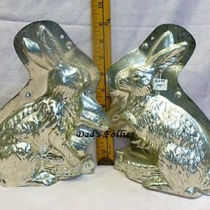 old antique metal vintage chocolate mold for sale unique gift rabbit