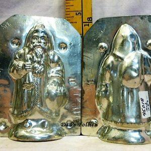 old antique metal vintage chocolate mold for sale unique gift Santa