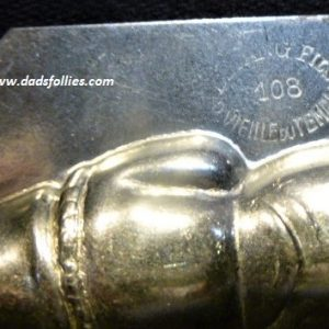 old metal vintage antique chocolate mold for sale santa