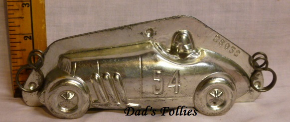 race car chocolate mold