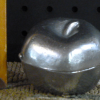 pewter ice cream mold apple with stem