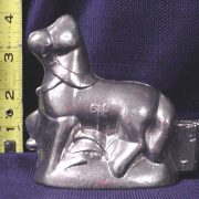 old pewter ice cream mold horse