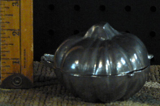 pumpkin ice cream mold pewter
