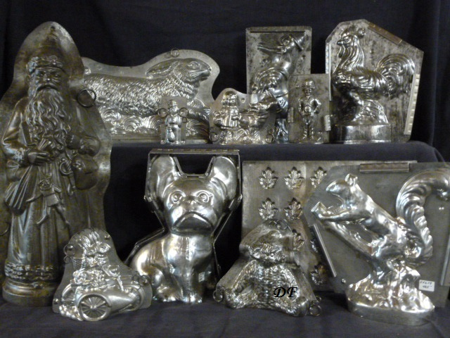 antique metal chocoalte molds for sale