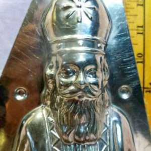 old metal vintage antique chocolate mold for sale unique gift st Nicolas and children