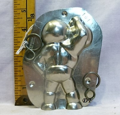 Old antique metal chocolate mold for sale unique gift