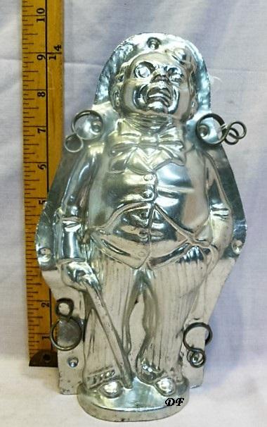 old metal vintage antique chocolate mold for sale unique gift clown