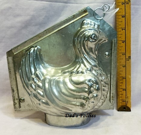 old metal vintage antique chocolate mold mould for sale