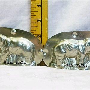 old metal vintage antique chocolate mold for sale elephant