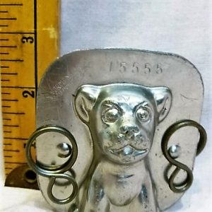old metal vintage antique chocolate mold for sale dog