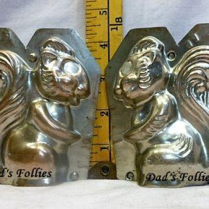 antique old metal vintage antique chocolate mold for sale animal