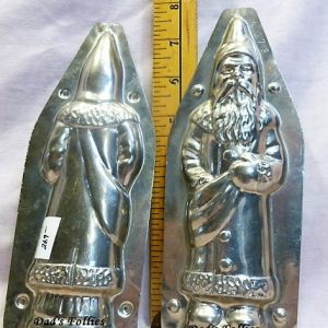 antique old metal vintage chocolate mold for sale unique santa