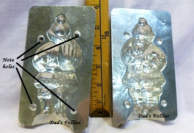 antique old metal vintage chocolate mold for sale unique santa